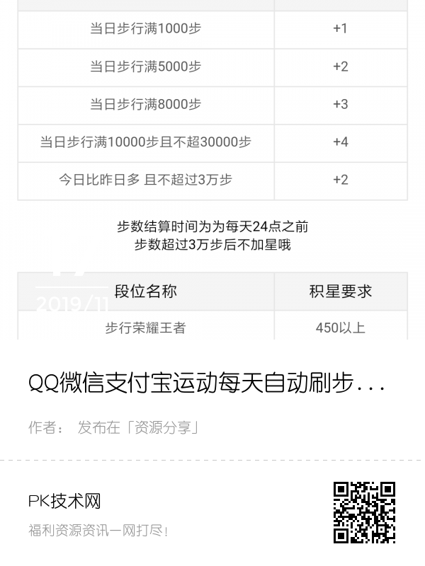 QQ微信支付宝运动每日自动刷步数 简单操作占领排行榜封面